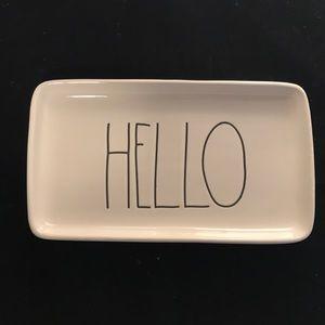 "Rae Dunn ""HELLO"" Plate/Platter/Jewelry"
